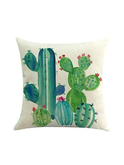 Cactus Print Cushion Cover Cactus Pillow Printed Cushion Covers Printed Cushions