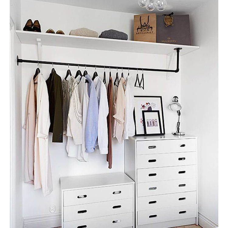 Proof That You Donu0027t Need A Fancy, Expensive Wardrobe System To Have A  Beautiful Closet Space! Just A Shelf For Any Items You Donu0027t Use Regularly,  ...