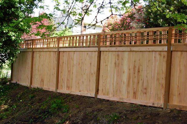 Fence Open Top Fence With Lattice Top Wood Fence Design Lattice Fence