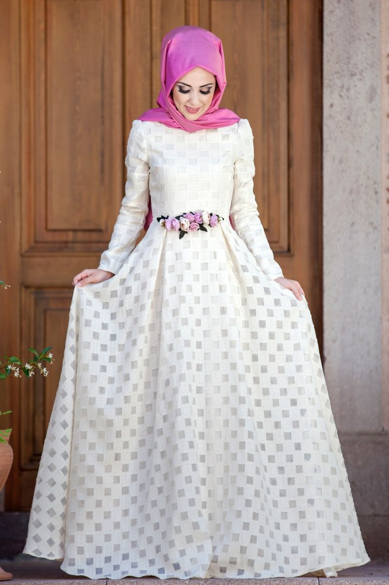 Minel Aşk - Afife Elbise Ekru