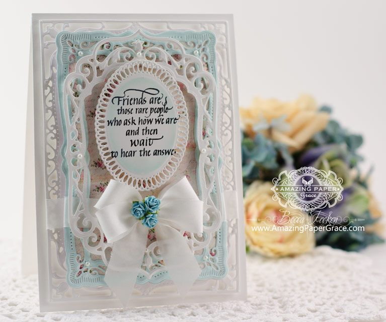 Friendship Card Making Ideas Part - 45: Card Making Ideas By Becca Feeken Using Spellbinders Elegant Labels Four -  Www.amazingpapergrace.