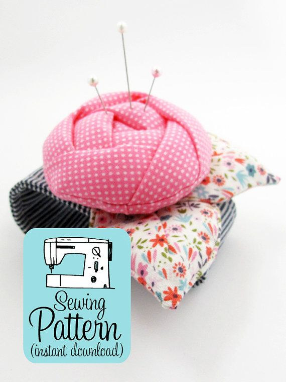 Rose Pincushion Cuff PDF Sewing Pattern | Sew a wearable flower ...