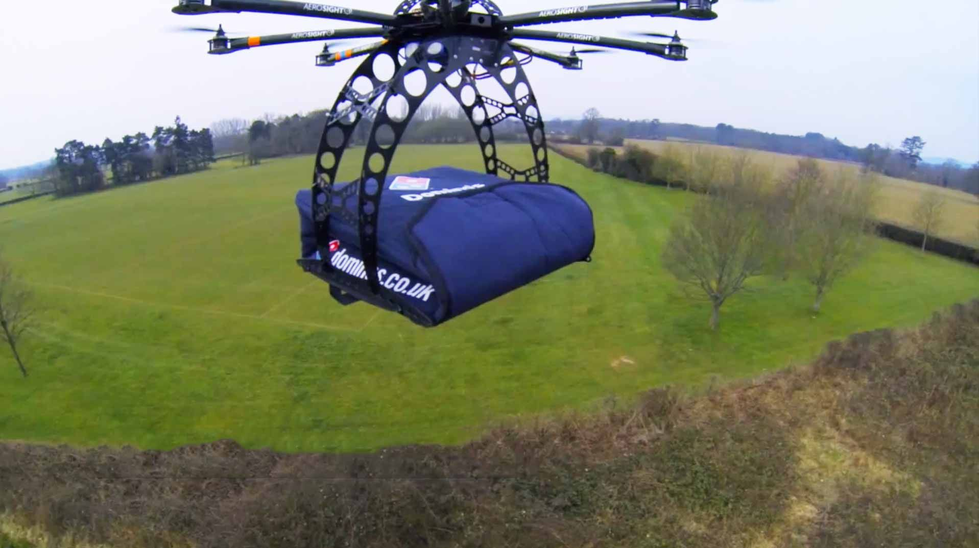 Dominoes Drone Pizza Delivery