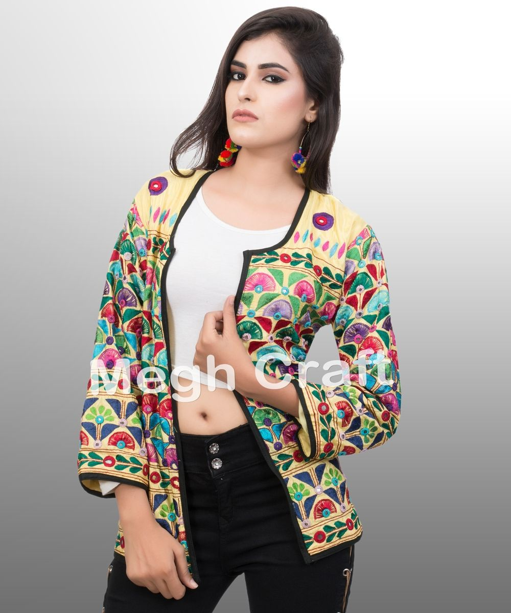 9e2f5871553 online wholesale winter wear cotton shrug-party wear shrug-embroidered  jackets LADIES FASHION WEAR