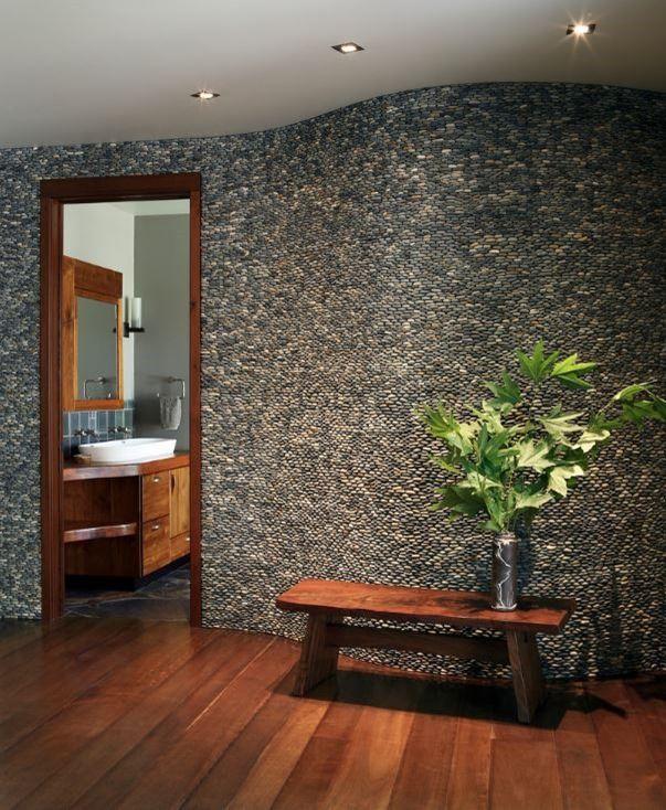Interior Stone Accent Wall Decoracion De Unas Casas Hogar
