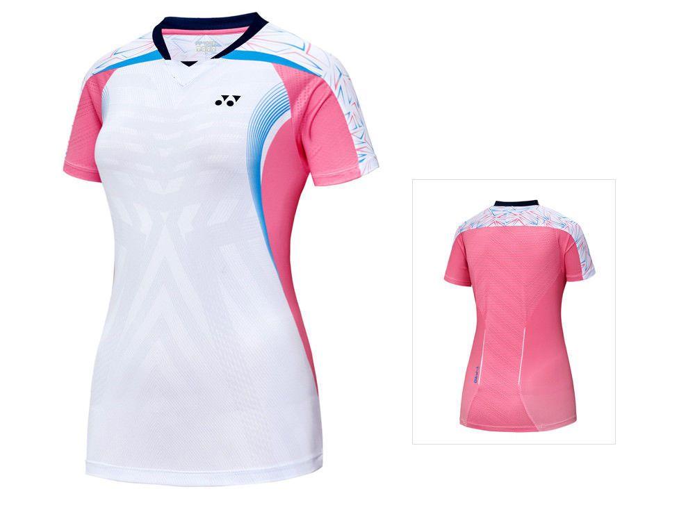 Yonex 2018 Collection Women S Badminton Round T Shirts White Clothes 81ts010fwh Y Camisetas Deportivas Mujer Camisetas Deportivas Camisetas De Futbol Femenino