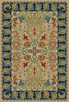 Redcar Area Rug Designed By William Morris Guildcraft Carpets