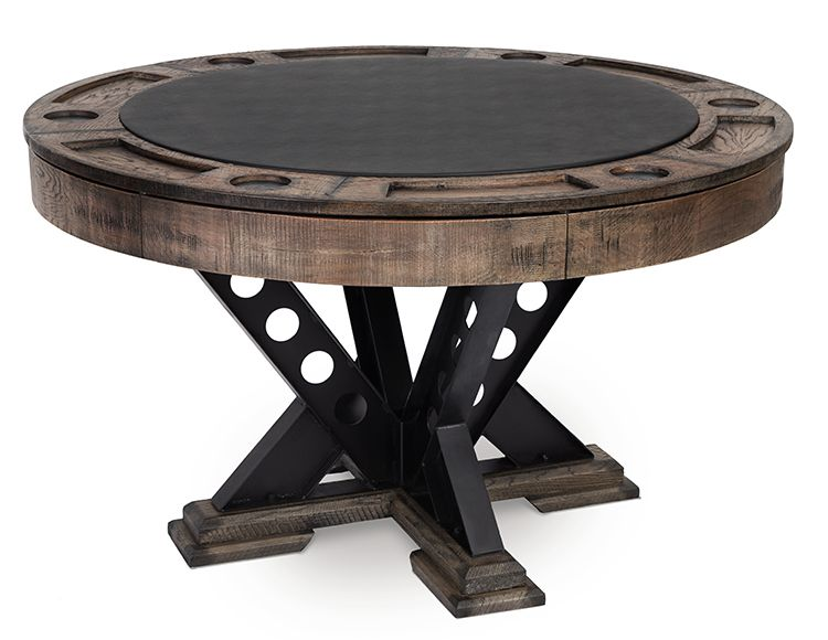 The Vien Pub Table Round Poker Table Poker Table Game Room Tables