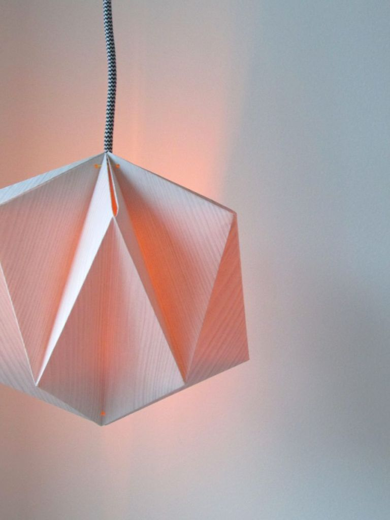 Origami Lampshade Made From Wallpaper | Origami lampshade, Origami ... for Creative Paper Lamps  146hul