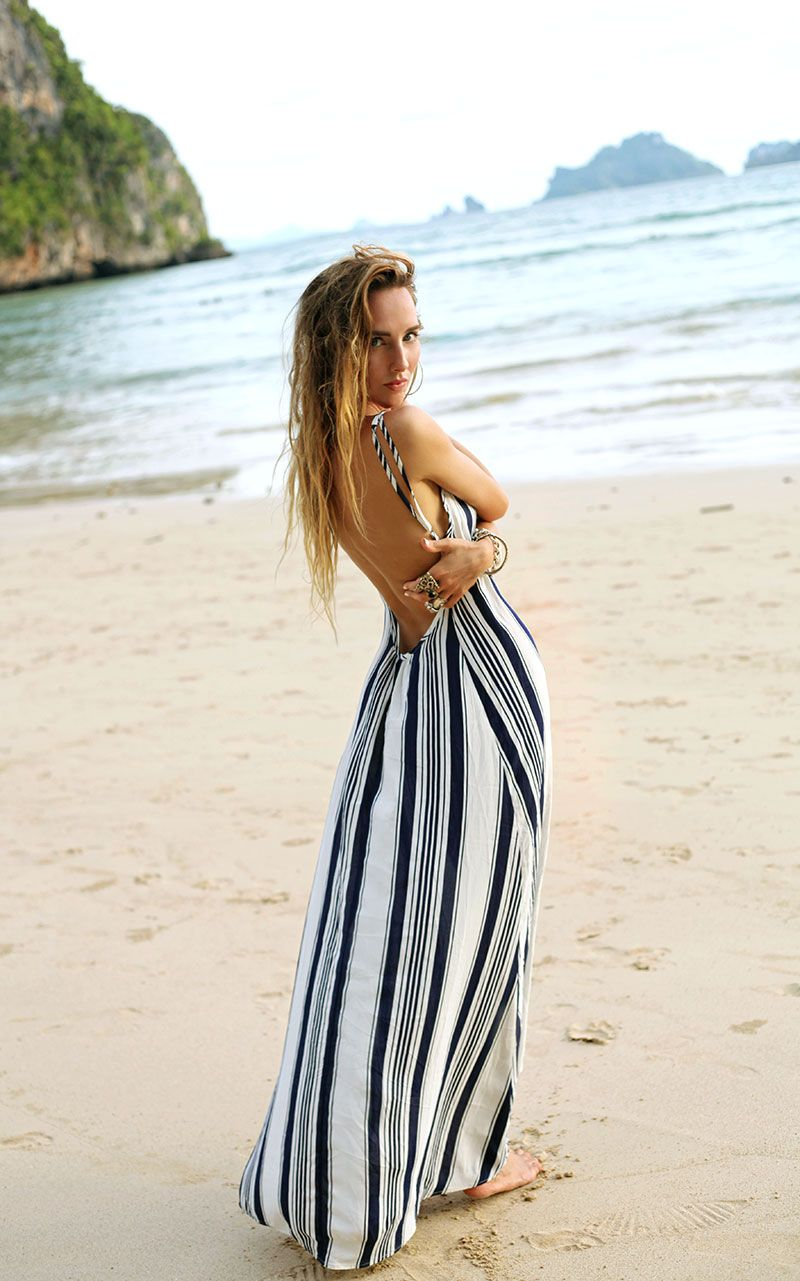 adccb01fdab8 Flynn Skye Scoop Back Maxi Dress in Nautical Navy for free people. Beach  dress ...