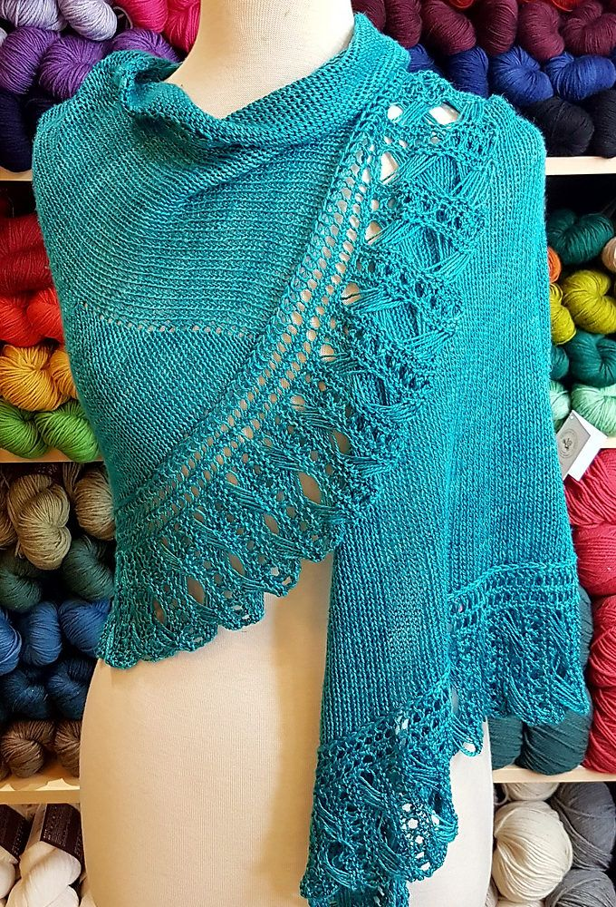 Free Until March 24 2018 For Centre Island Shawl Knitting Pattern