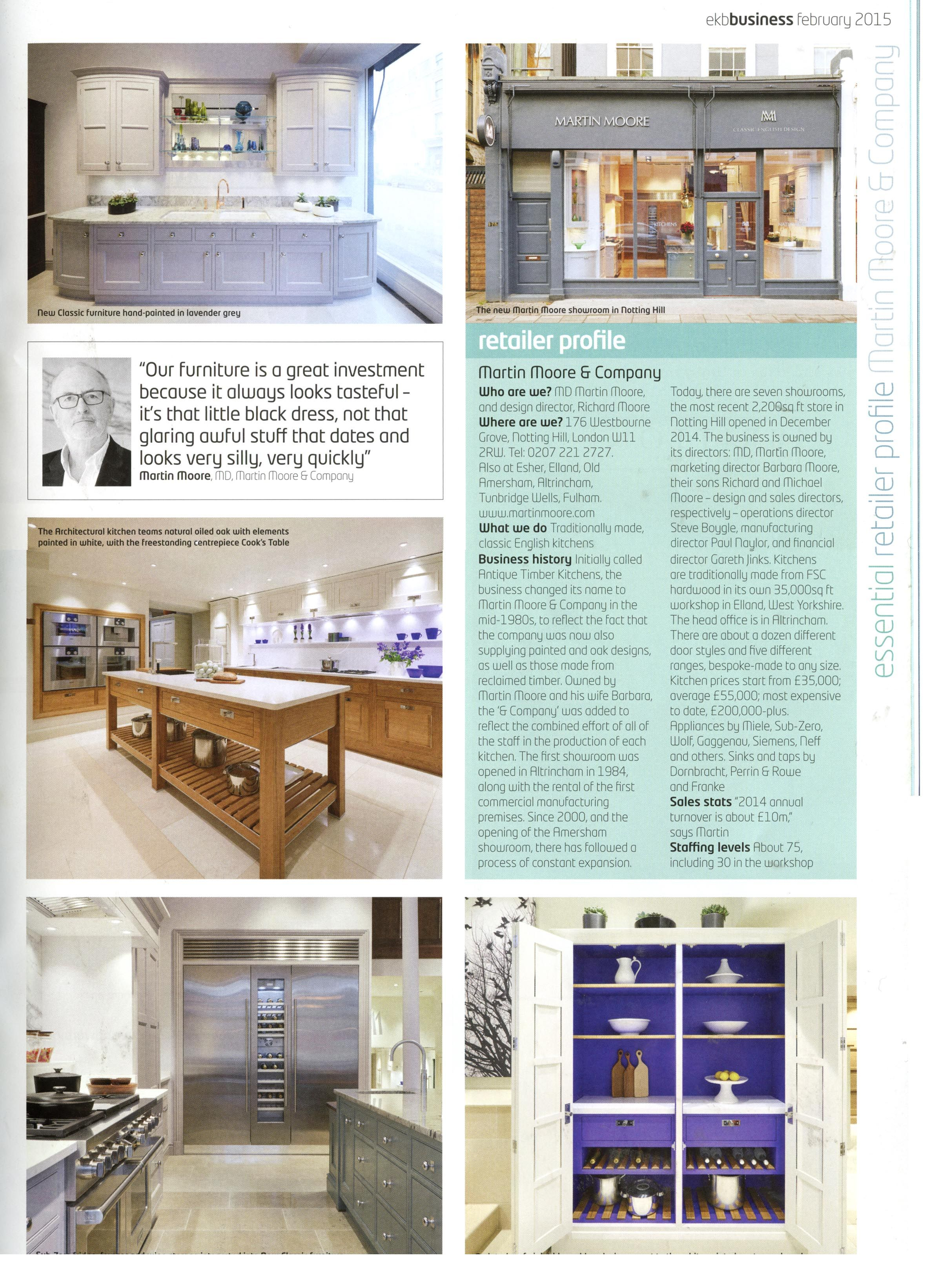 Martin Moore has opened a second London showroom in Notting Hill ...