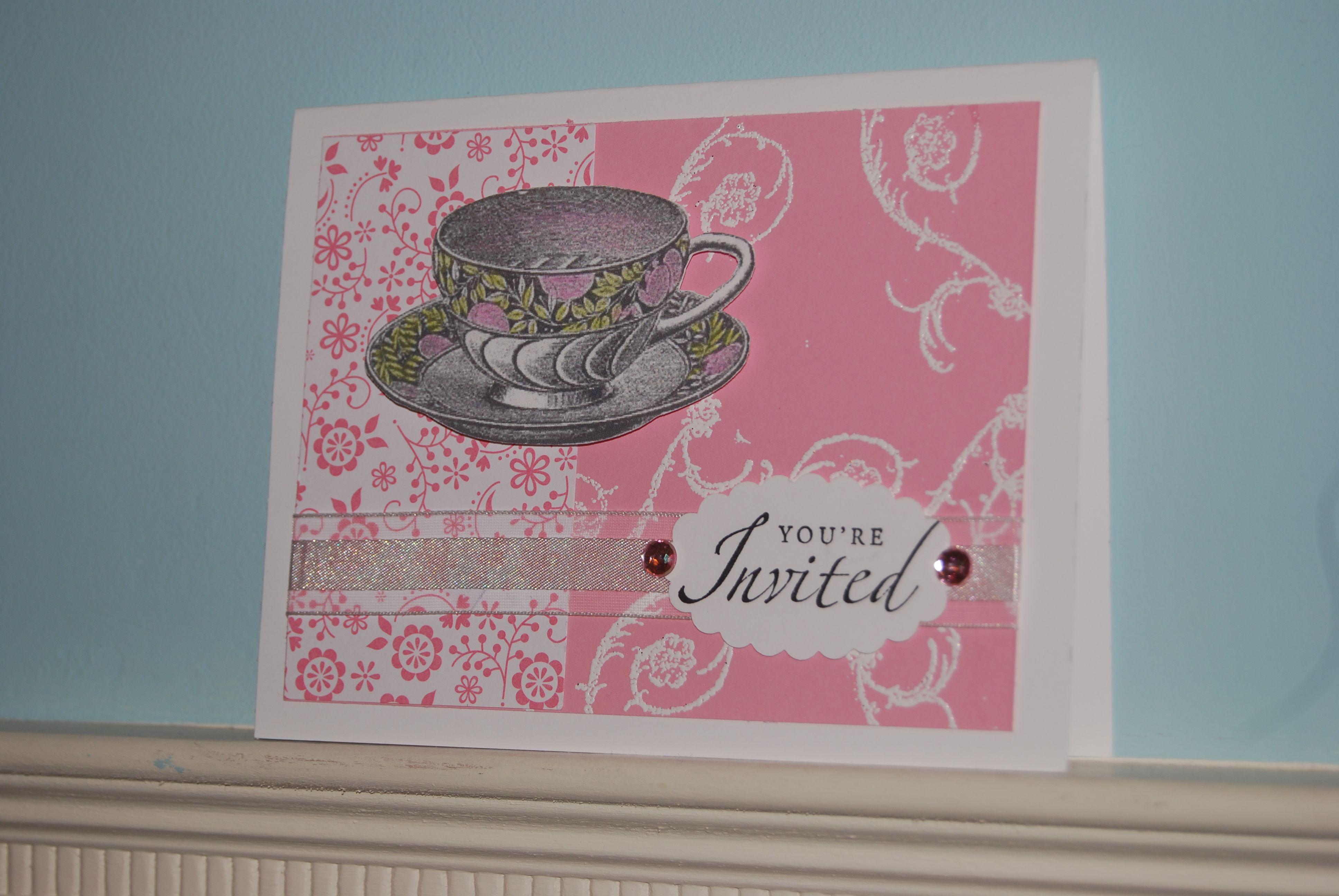 Afternoon Tea Birthday Party Invitation… | Showers | Pinterest ...
