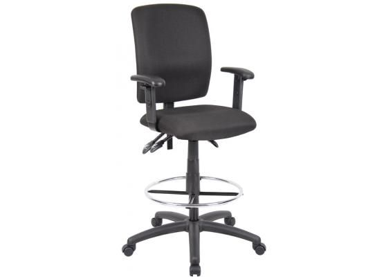 Boss Multi Function Fabric Drafting Stool With Adjustable Arms Office Chair Chair Mesh Office Chair