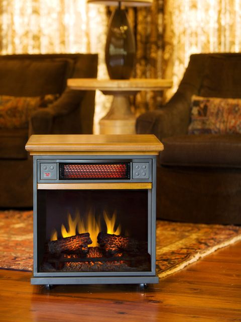 The Spencer 20 Inch 1 000 Sq Ft Oak Portable Fireplace Infrared