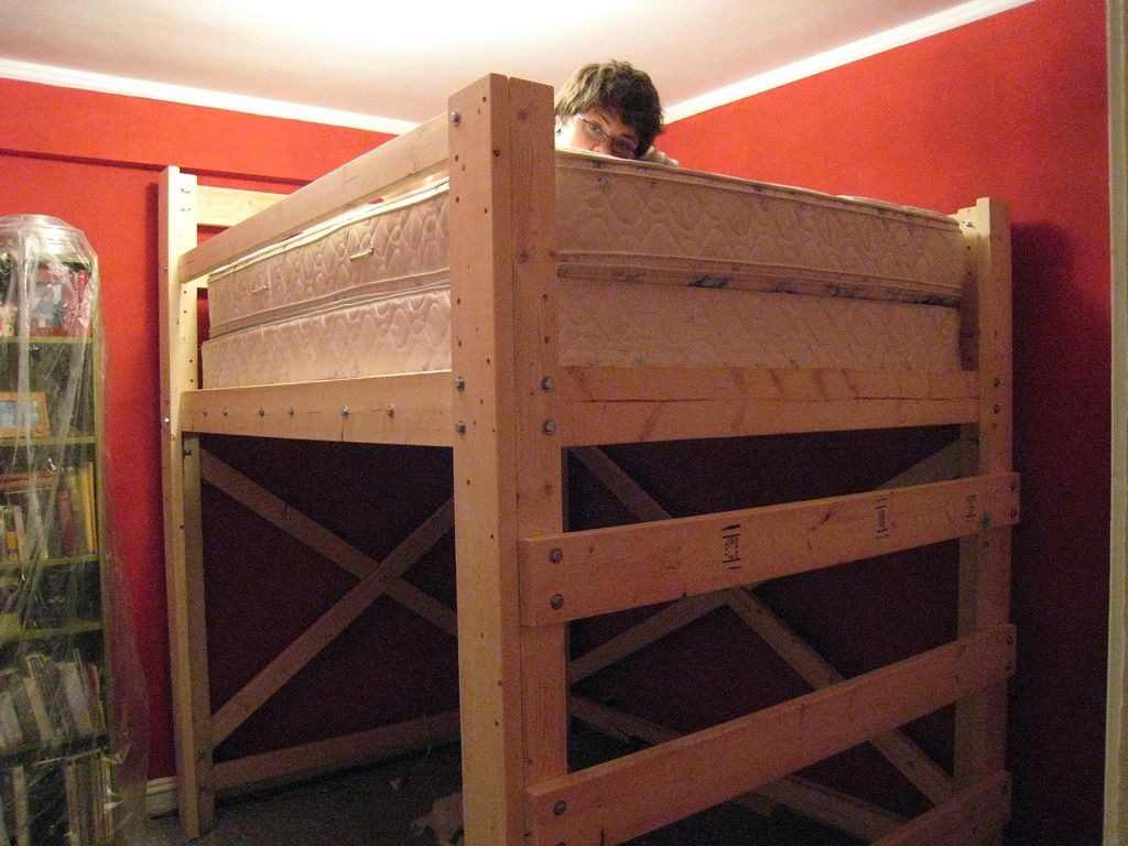 Diy Loft Bed Copycatfilms Loft Beds Loft Bed Plans