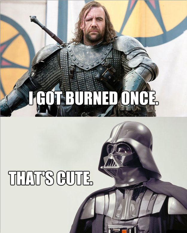 Star Wars Vs Game Of Thrones Battle Is Epic Star Wars Humor Star Wars Memes Star Wars Jokes