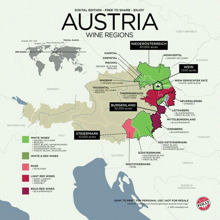 Austria Wine Regions Italienischer Wein Wein Und Co Essen Und Wein
