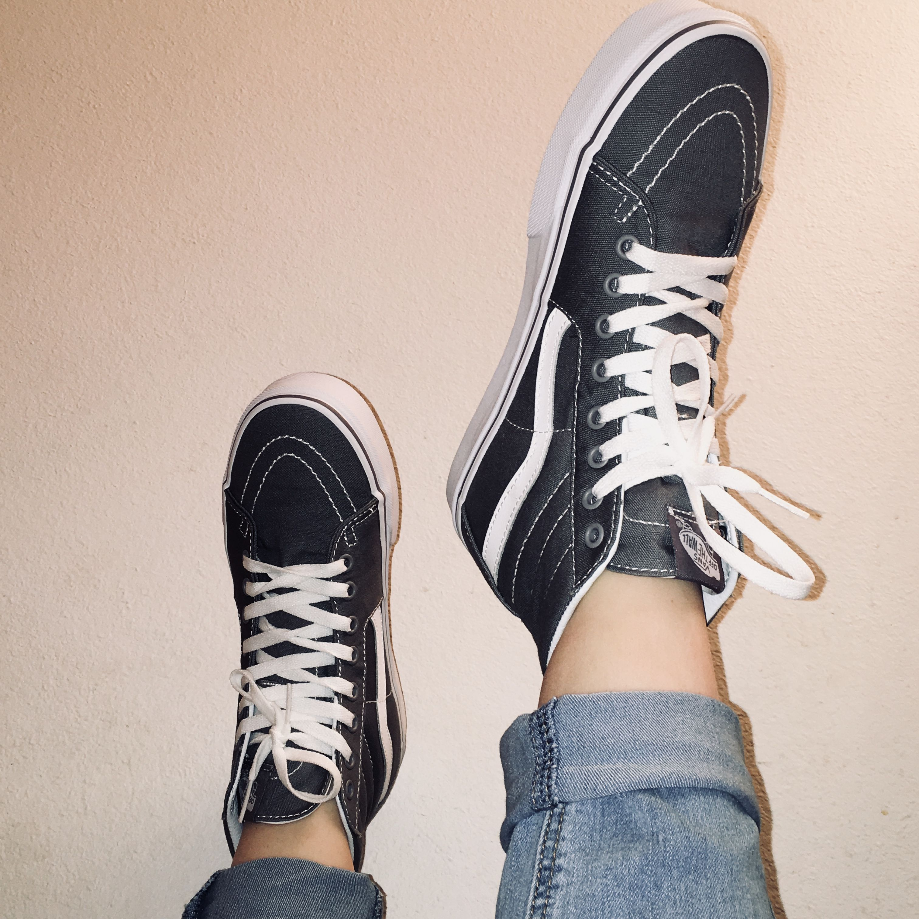 8cb3cee131 gray grey vans - high tops - rolled jeans - aesthetic - photography - tumblr