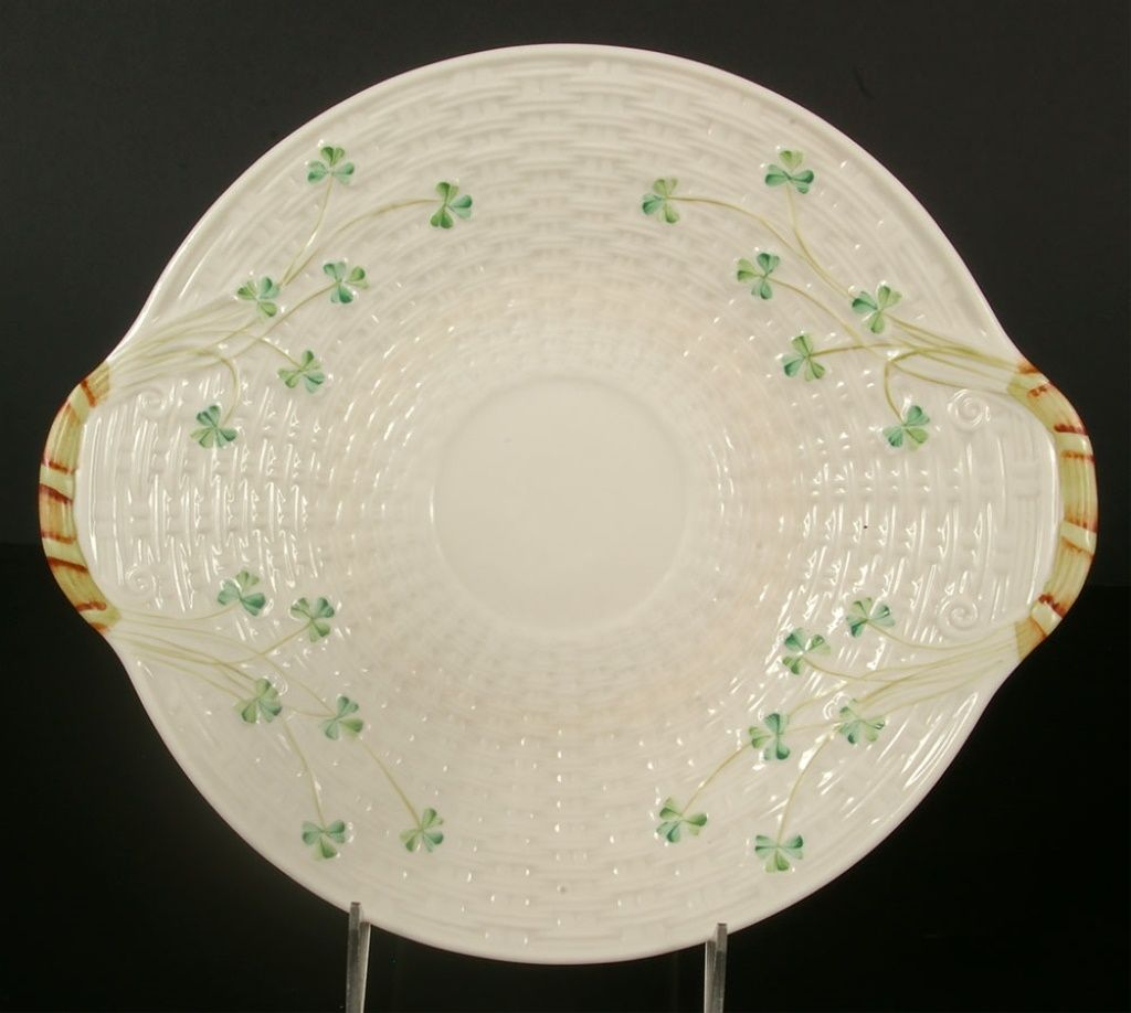 Belleek cake plate with images plates cake plates