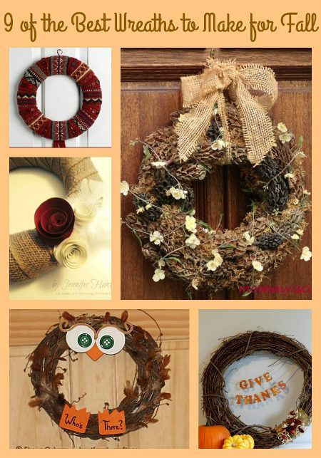The Best Wreaths For Fall Wreaths Fall And The Ojays - 9 diy thanksgiving front door decor ideas