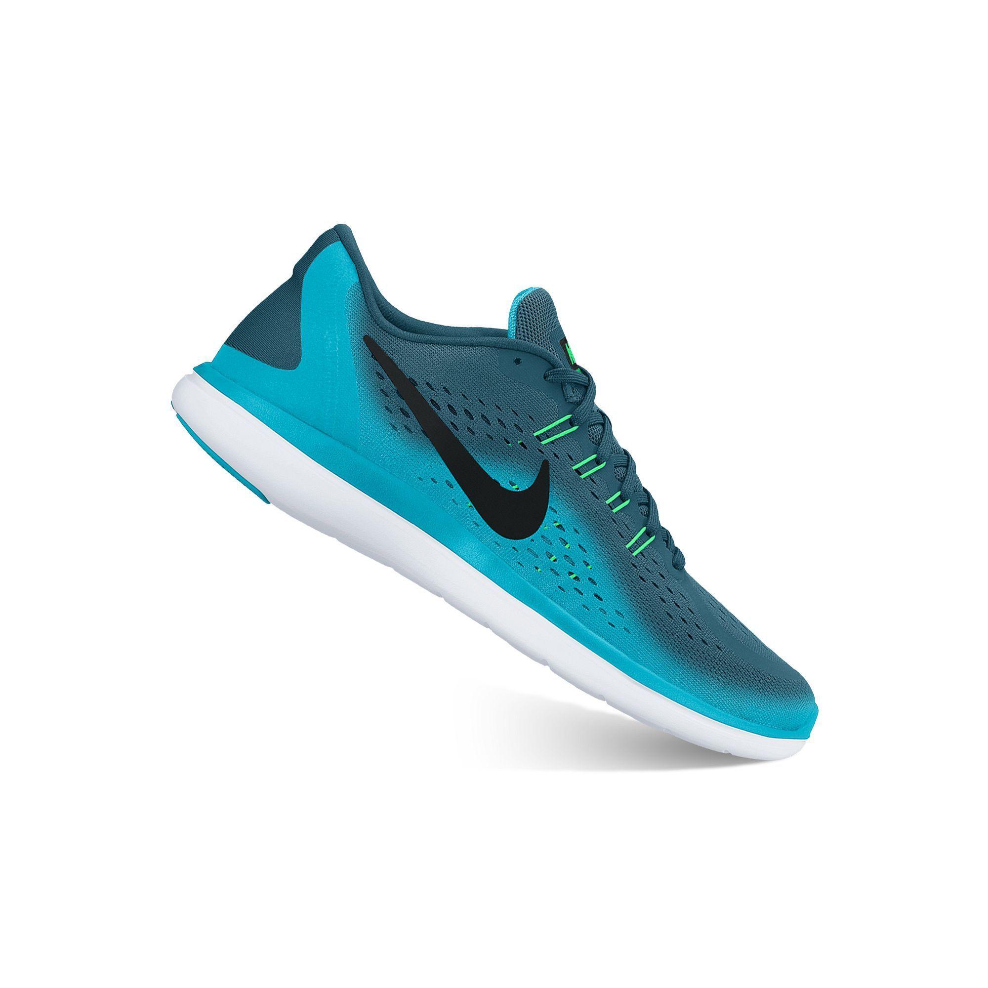 ... nike flex 2017 rn mens running shoes size 10.5 blue