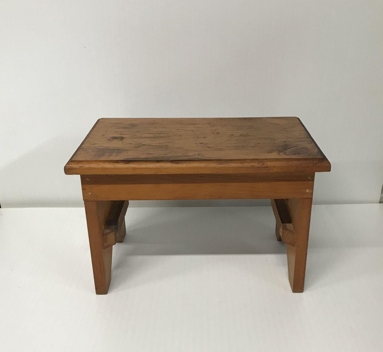 Vintage Wood Step Stool One Bed