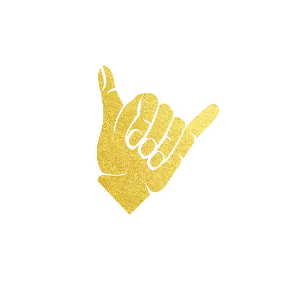 Add some tropical vibes to your everyday life with this gold add some tropical vibes to your everyday life with this gold hawaiian shaka symbol tattoo biocorpaavc Image collections