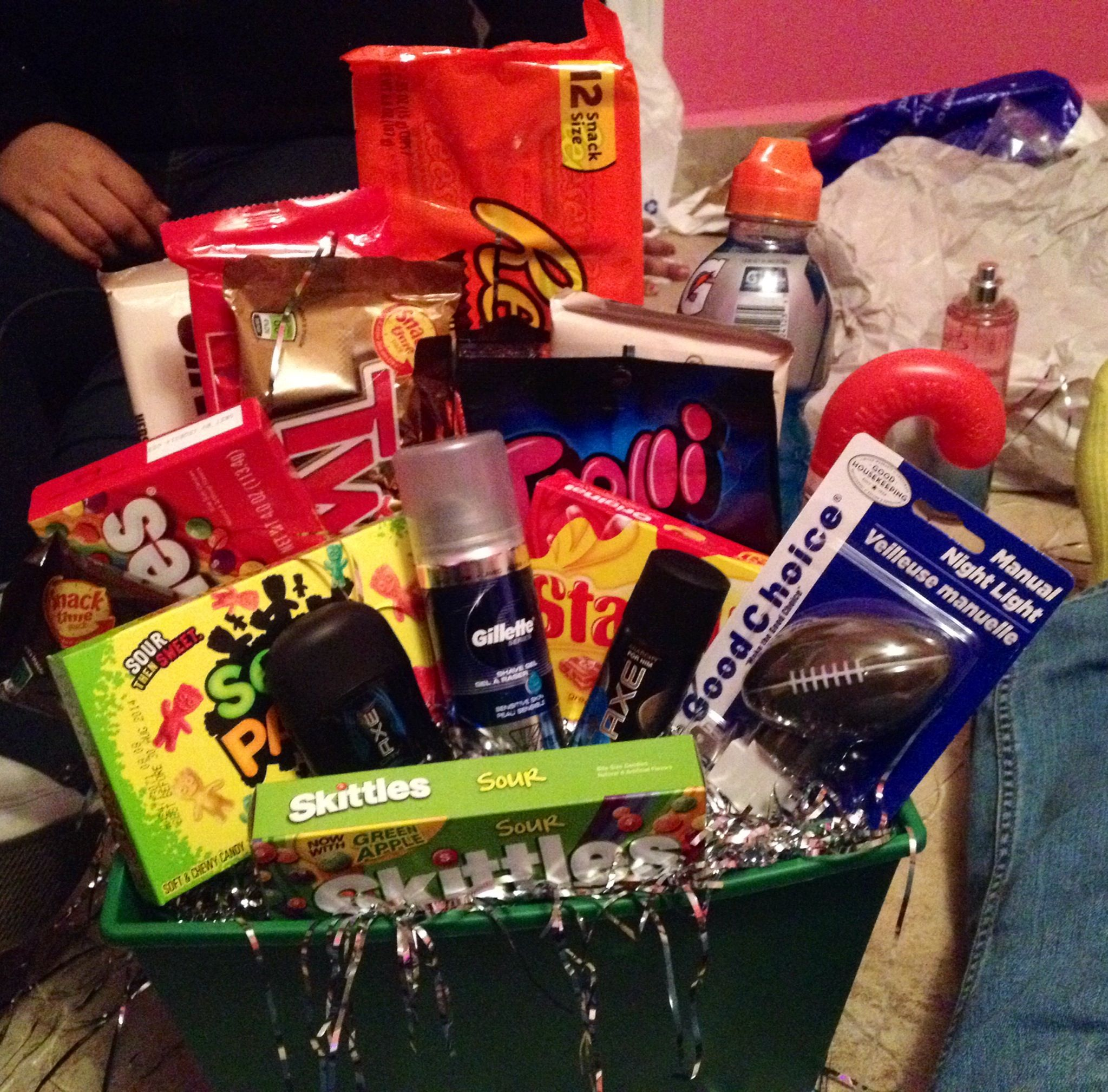 gift basket i made my boyfriend for christmas boyfriend things