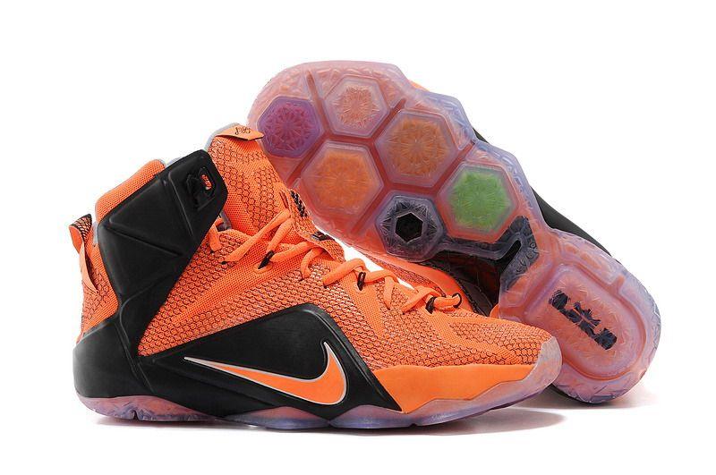 Nehmen Billig Deal Nike Lebron 12 Gelb Weiß Schuhe Billig Schwarz