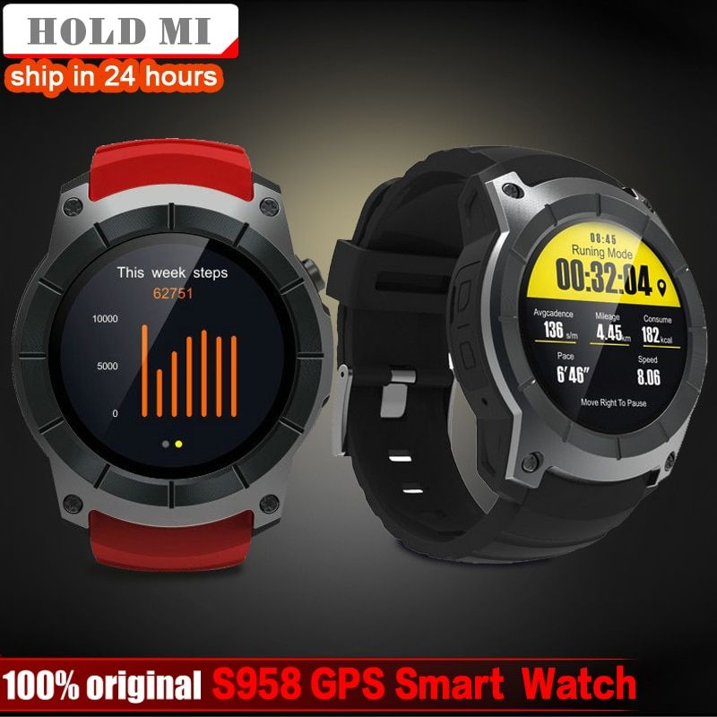 ec0c29744 Hold Mi S958 GPS Smart Watch Heart Rate Monitor Sport Waterproof SIM Card  Support Bluetooth 4.0 Smartwatch for Android IOS Phone Review