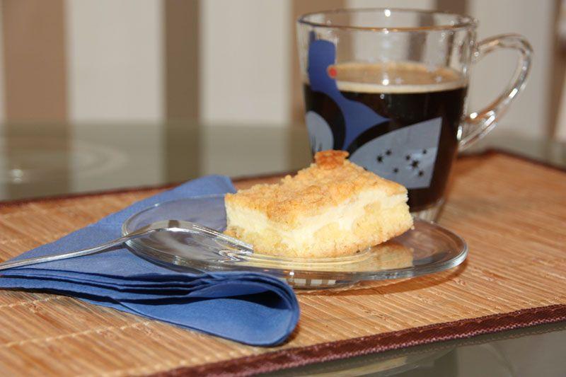 Streuselkuchen vom Blech mit Quarkfüllung Streusel