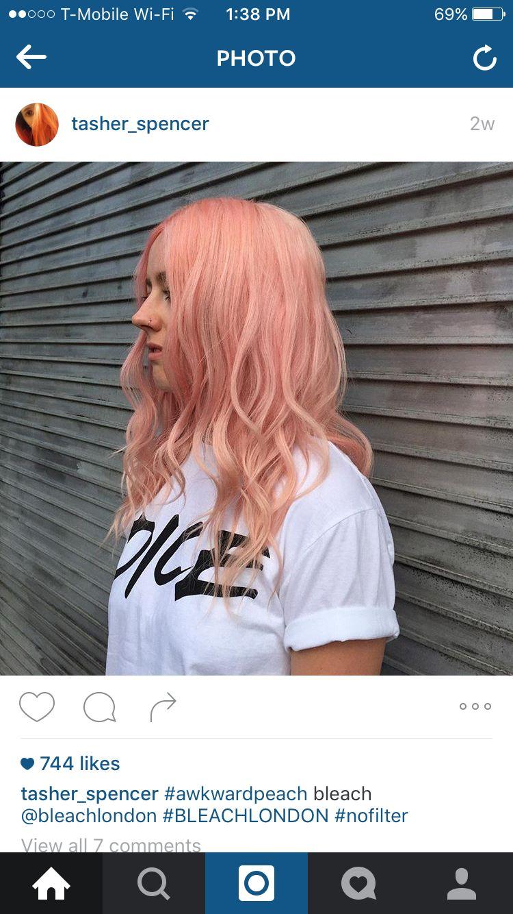 Awkward peach by bleach London  hair inspiration  Pinterest