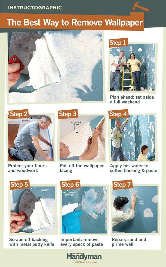 How to Remove Wallpaper Diy home repair, Diy home