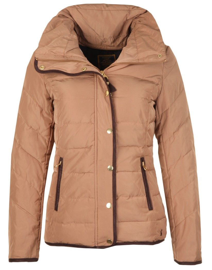 Joules Ladies' Holthorpe Padded Jacket - Wholemeal S_HOLTHORPE ... : joules green quilted jacket - Adamdwight.com