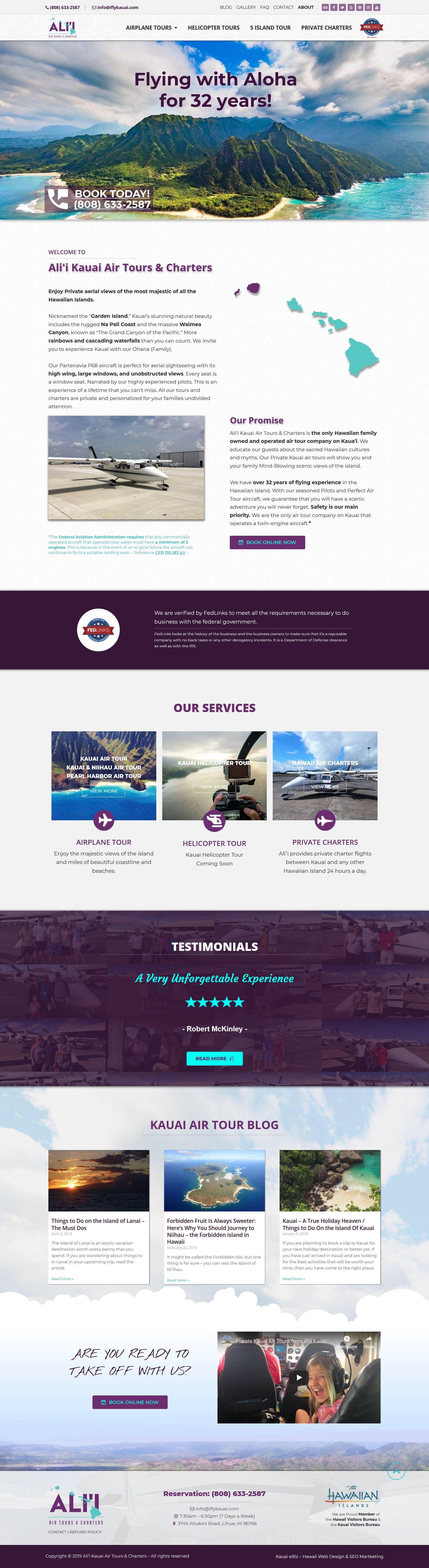 Hawaii Air Tour Company Website Small Business Web Design Portfolio Web Design How To Make Animations