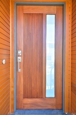 Contemporary Front Door With Exterior Tile Floors Exterior Stone Floors Glass Panel Door Main Door Design Door Design Contemporary Front Doors