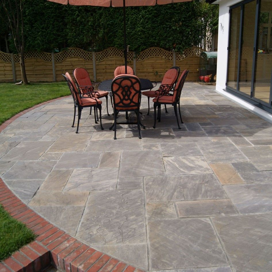 Remarkable Natural Patio Stone Pavers from Charcoal Grey ... on Red Paver Patio Ideas id=32793