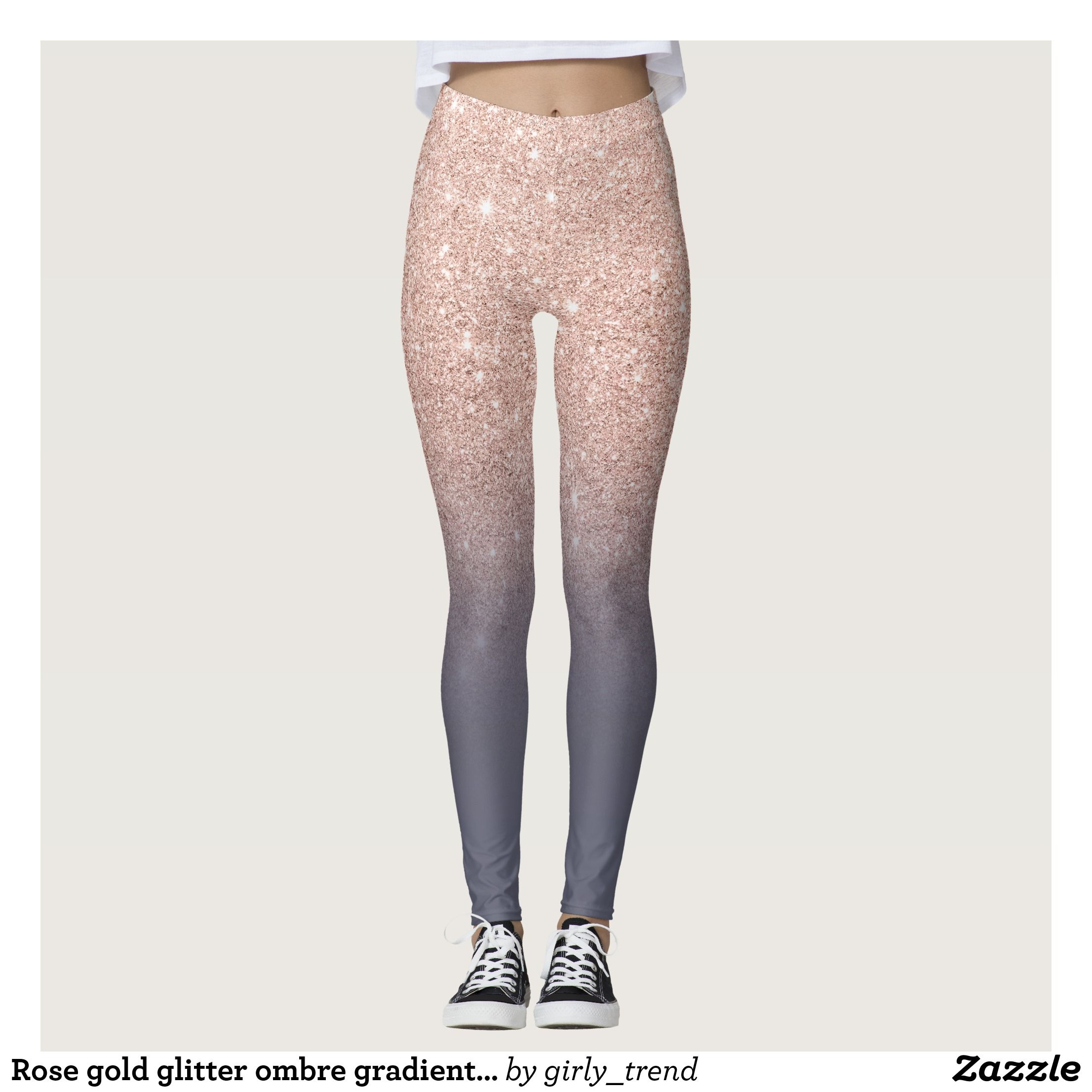 eaf76397f52f4 Rose gold glitter ombre gradient purple grey leggings : Beautiful #Yoga  Pants - #Exercise Leggings and #Running Tights - Health and Training  Inspiration ...
