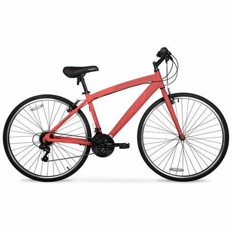 700c Hyper Bicycles Spinfit Men S Aluminum Frame Bike Red Hybrid
