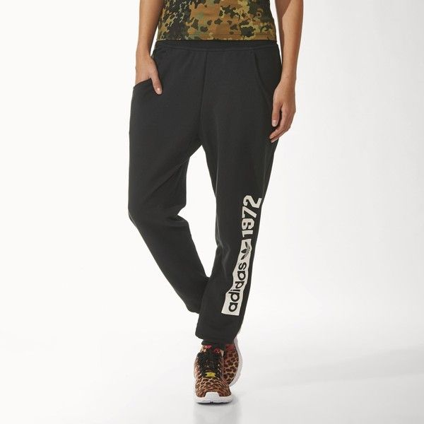 Adidas Fleece Logo Baggy Track Pants