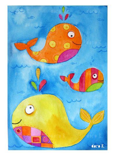 Bilder für babyzimmer auf leinwand selber malen  WANDA & Co.