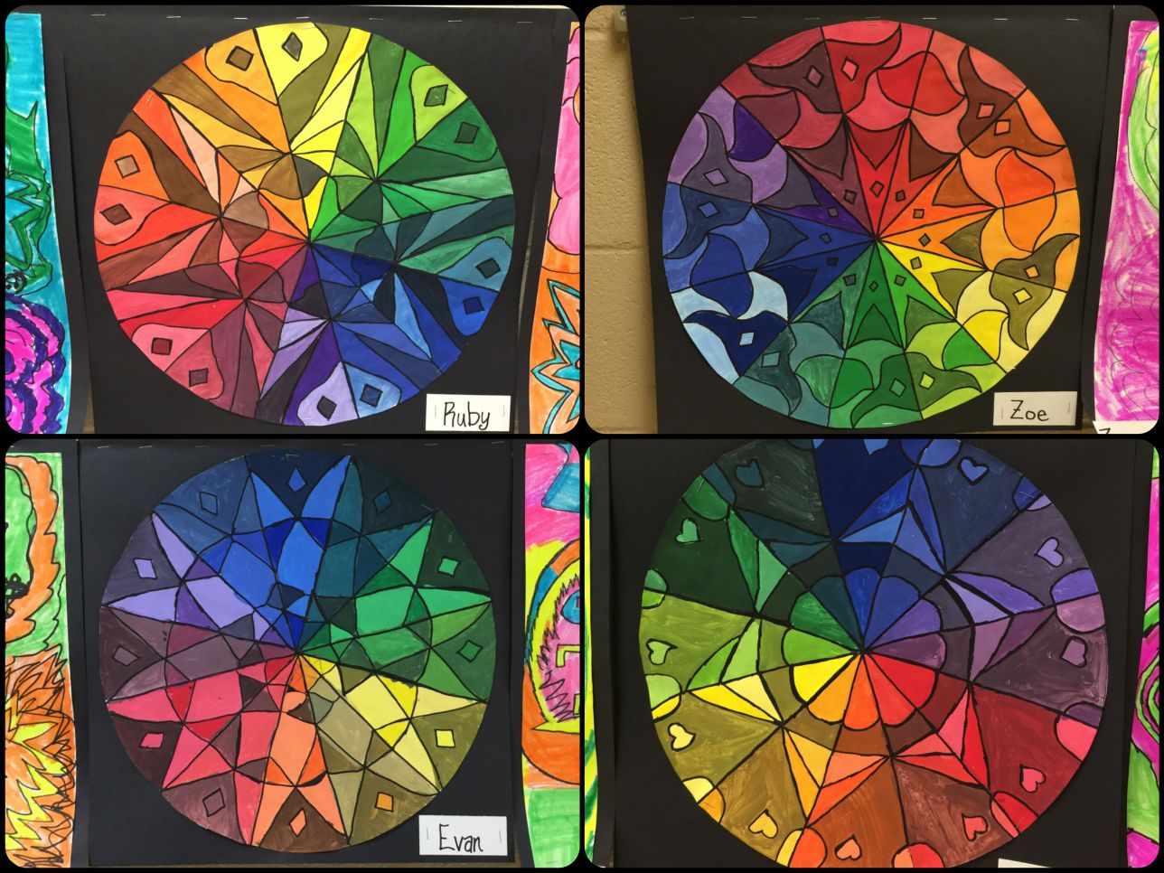 5th Grade Color Wheel Mandalas