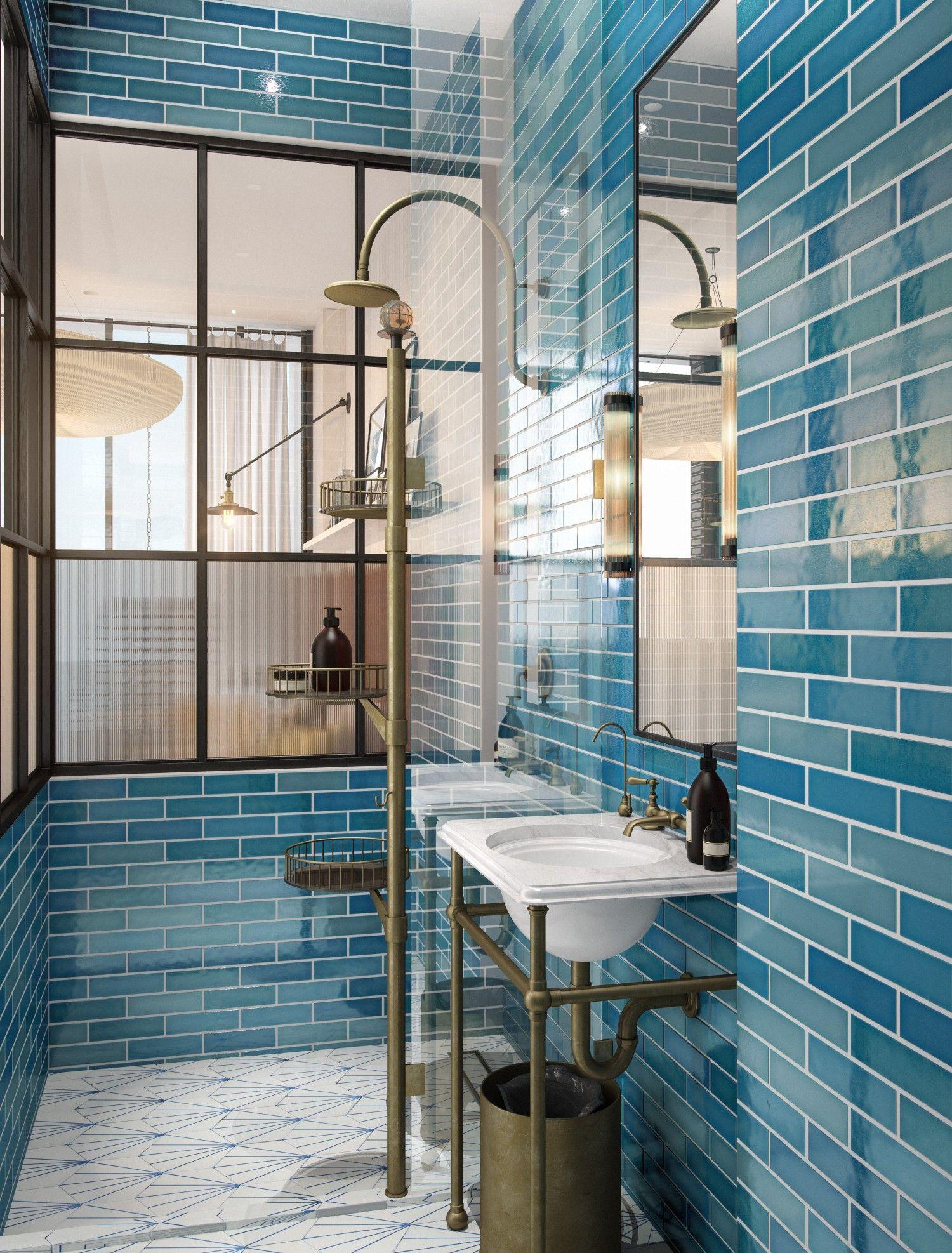 Williamsburg Hotel Brooklyn Blue Lava Tiles By Pyrolave Uk