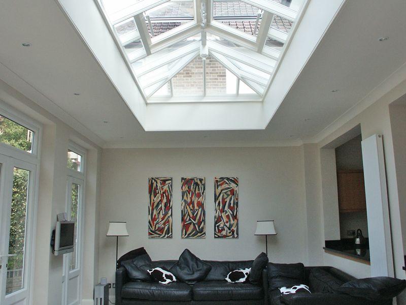 Tilly S Cottage Roof Lantern Skylight Over Living Roof Lantern Modern Roofing Roof Design