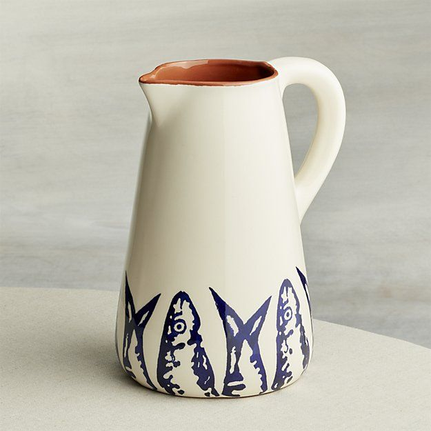 Pescado Pitcher Crate And Barrel Pitcher Tableware Collection