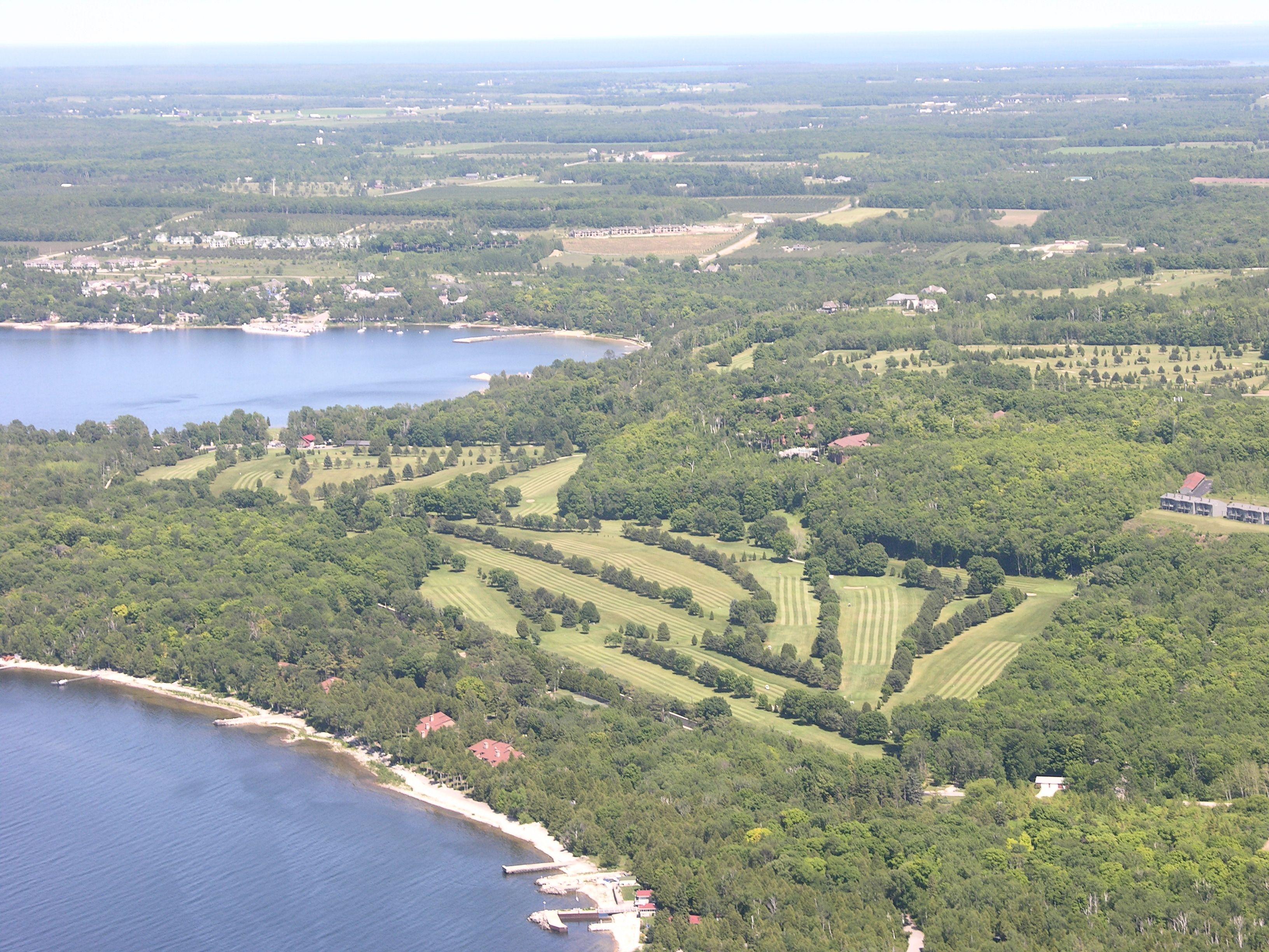 Alpine Golf Course Ariel View. Door CountyGolf ...