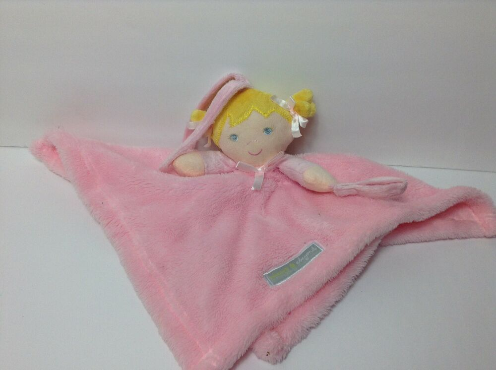 Blankets and Beyond Baby Security Blanket Pink Blonde Doll Girl Lovey Nunu 16 #BlanketsBeyond #securityblankets