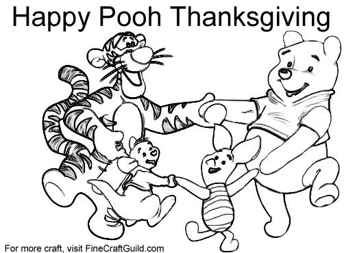 free thanksgiving coloring pages to print winnie the pooh - Thanksgiving Coloring Page Free