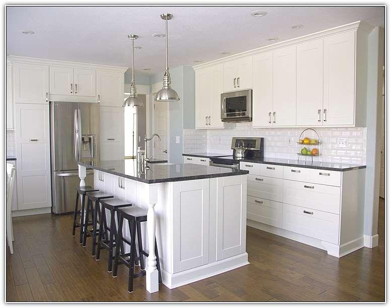 kitchen counter overhang cabinets smaller posts island countertop support queen